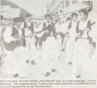 Vesela šokadija 1988 u Njemačkoj-fotografija iz novina